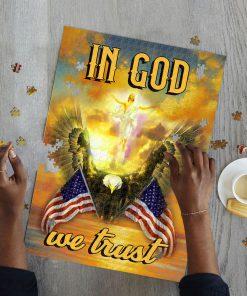 In God we trust american flag jigsaw puzzle 2