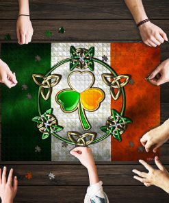 Irish flag st patrick's day jigsaw puzzle 1