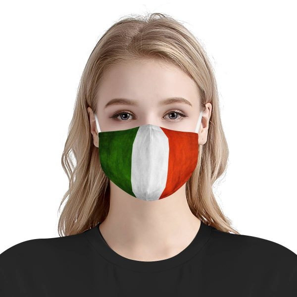 Italy flag anti-dust cotton face mask 4