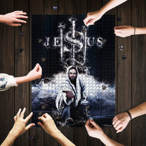 Jesus saves us jigsaw puzzle 1