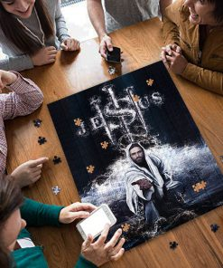 Jesus saves us jigsaw puzzle 4