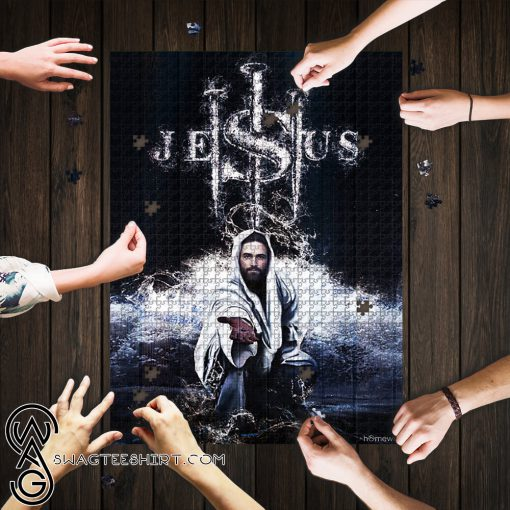 Jesus saves us jigsaw puzzle