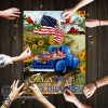 Jesus take the wheel american flag jigsaw puzzle