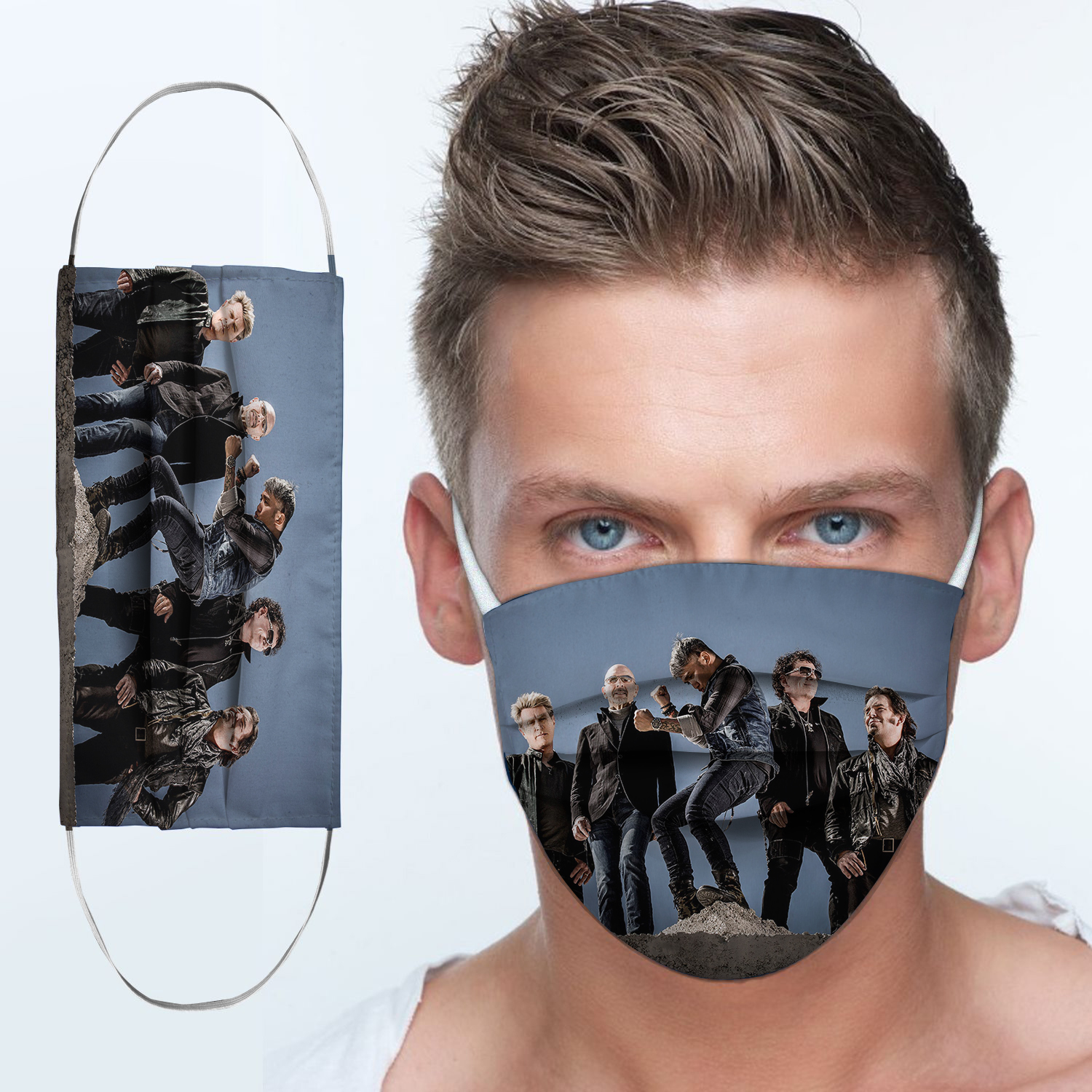 Journey rock band anti-dust cotton face mask 4