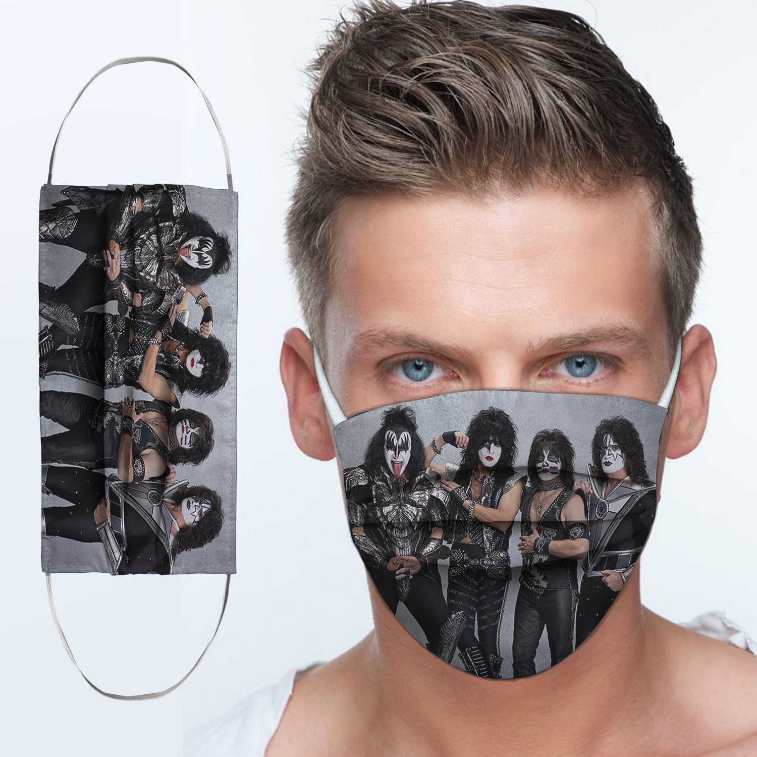 Kiss rock band anti-dust cotton face mask 2