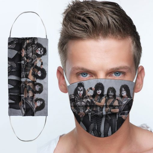 Kiss rock band anti-dust cotton face mask 3