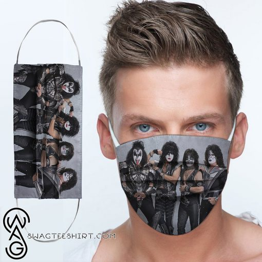 Kiss rock band anti-dust cotton face mask
