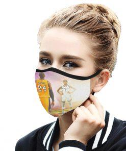 Kobe bryant and gigi daughter anti-dust cotton face mask 3