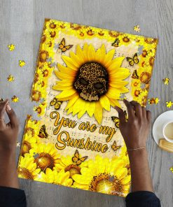 Leopard skull sunflower you are my sunshine jigsaw puzzle 2