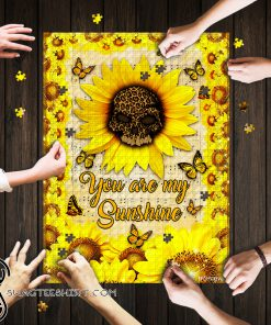 Leopard skull sunflower you are my sunshine jigsaw puzzle
