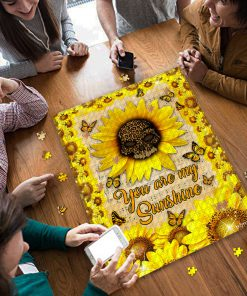 Leopard skull sunflower you are my sunshine jigsaw puzzle 3
