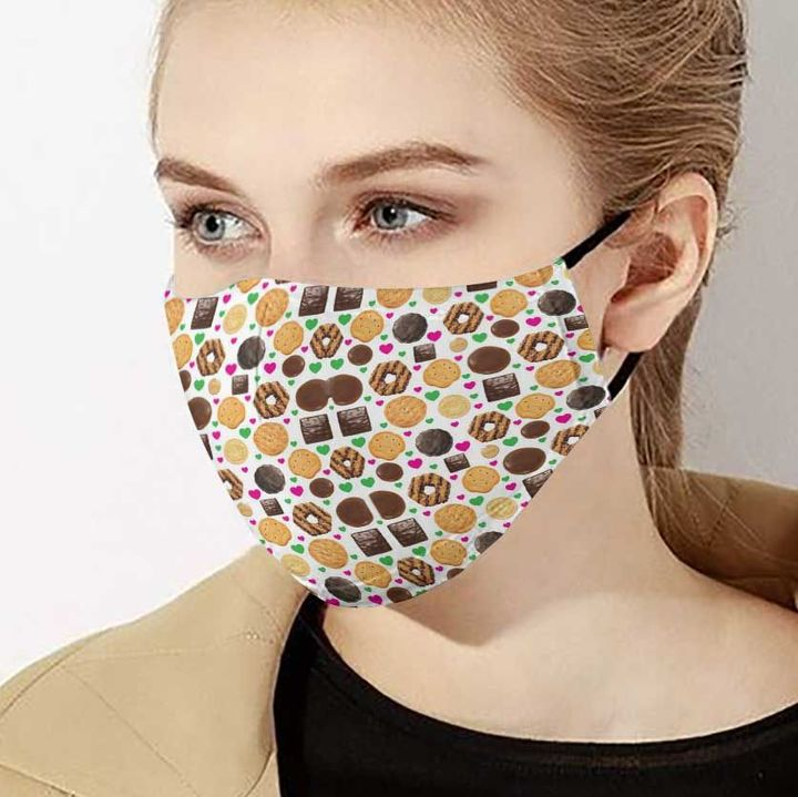 Love cookie girl anti-dust cotton face mask 2
