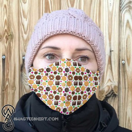 Love cookie girl anti-dust cotton face mask