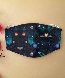 Love galaxy anti-dust cotton face mask 1