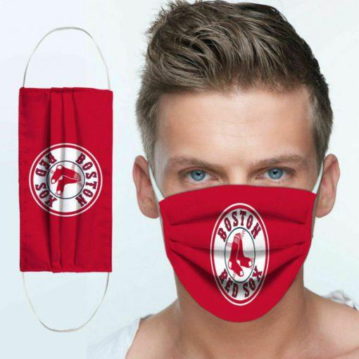 Major league baseball boston red sox team cotton face mask 1