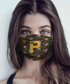 Major league baseball pittsburgh pirates cotton face mask 3