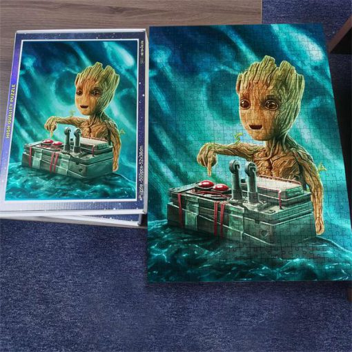 Marvel baby groot button jigsaw puzzle 3