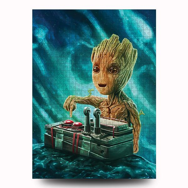 Marvel baby groot button jigsaw puzzle 4