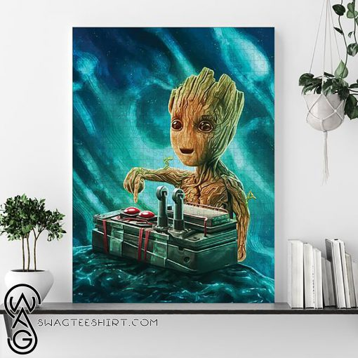 Marvel baby groot button jigsaw puzzle