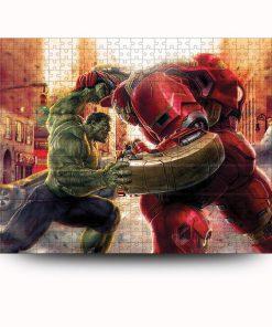 Marvel's avengers hulk vs hulkbuster iron man jigsaw puzzle 4