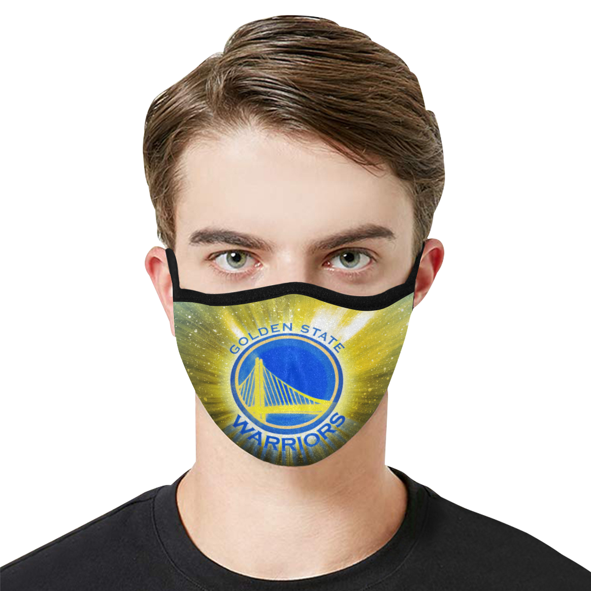 National basketball association golden state warriors face mask 1