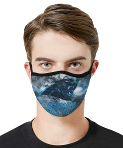 National football league carolina panthers face mask 2