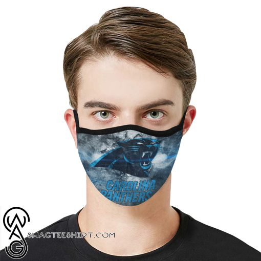 National football league carolina panthers face mask