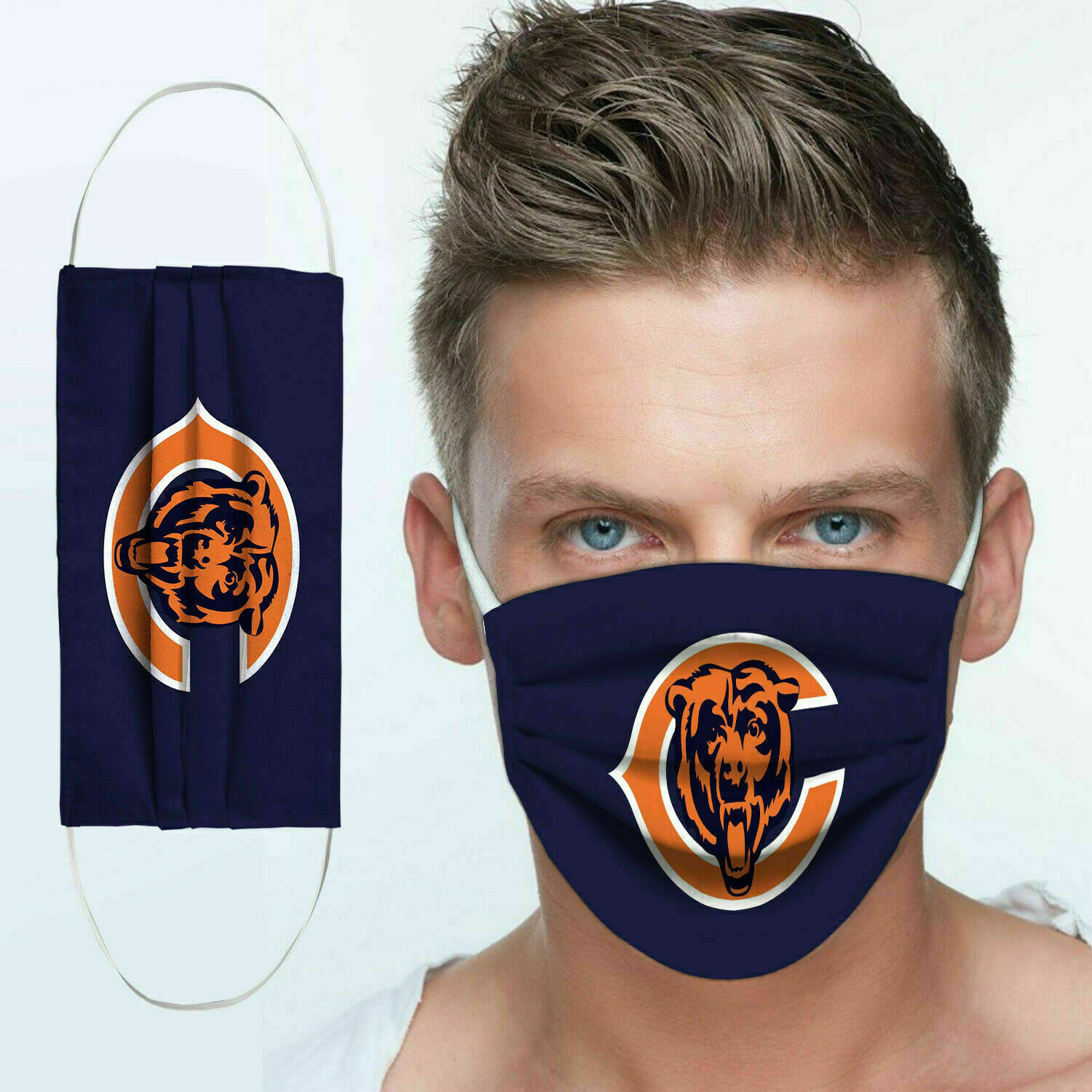 National football league chicago bears team cotton face mask 1
