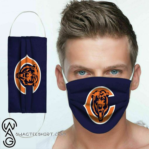 National football league chicago bears team cotton face mask