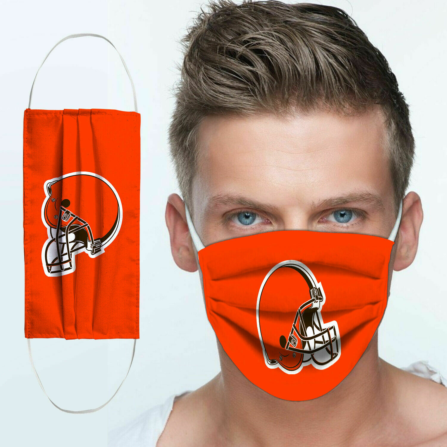 National football league cleveland browns team cotton face mask 3