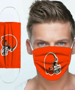 National football league cleveland browns team cotton face mask 4