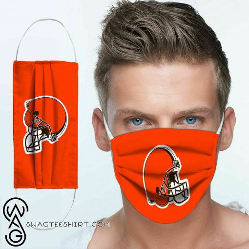 National football league cleveland browns team cotton face mask
