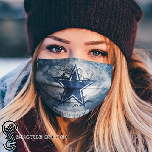 National football league dallas cowboys logo cotton face mask