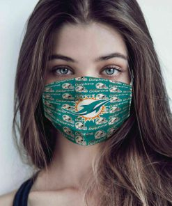 National football league miami dolphins cotton face mask 1