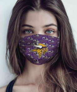 National football league minnesota vikings logo cotton face mask 1