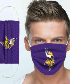 National football league minnesota vikings team cotton face mask 1