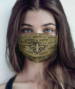 National football league new orleans saint cotton face mask 1