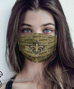 National football league new orleans saint cotton face mask