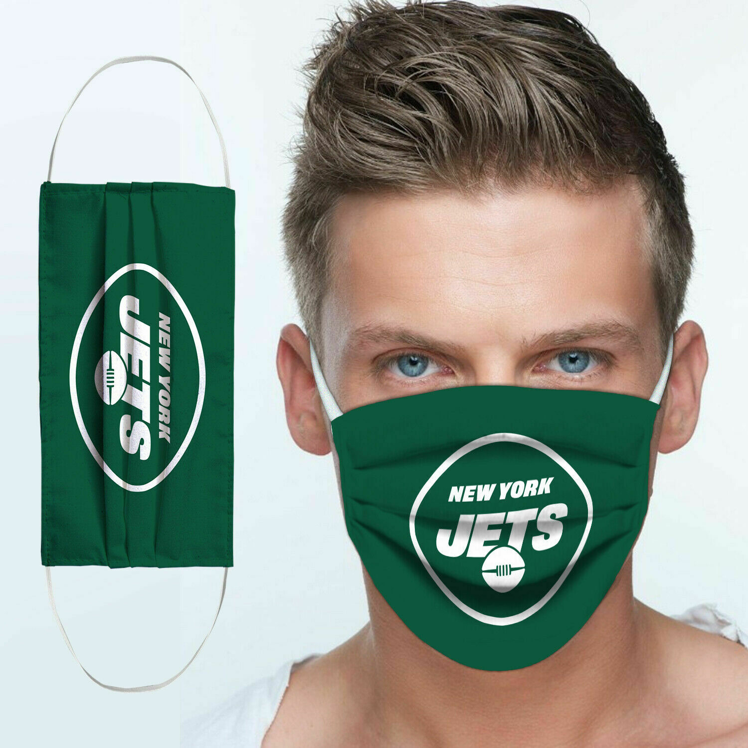 National football league new york jets team cotton face mask 3