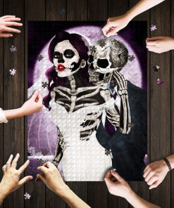 Skull couple jigsaw puzzle 1