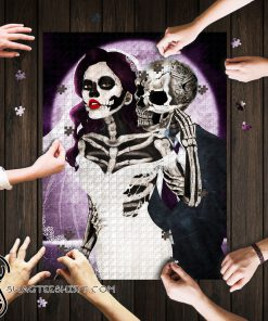 Skull couple jigsaw puzzle