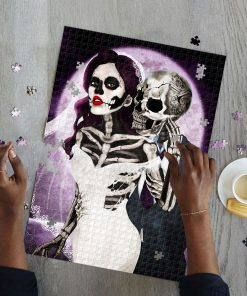Skull couple jigsaw puzzle 4