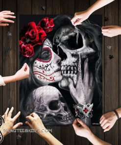 Skull tattoos dead kiss jigsaw puzzle