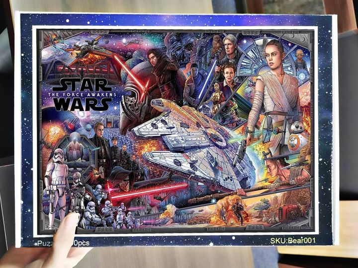 Star wars the force awakens jigsaw puzzle 1
