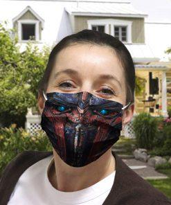 Transformers optimus prime anti-dust cotton face mask 4