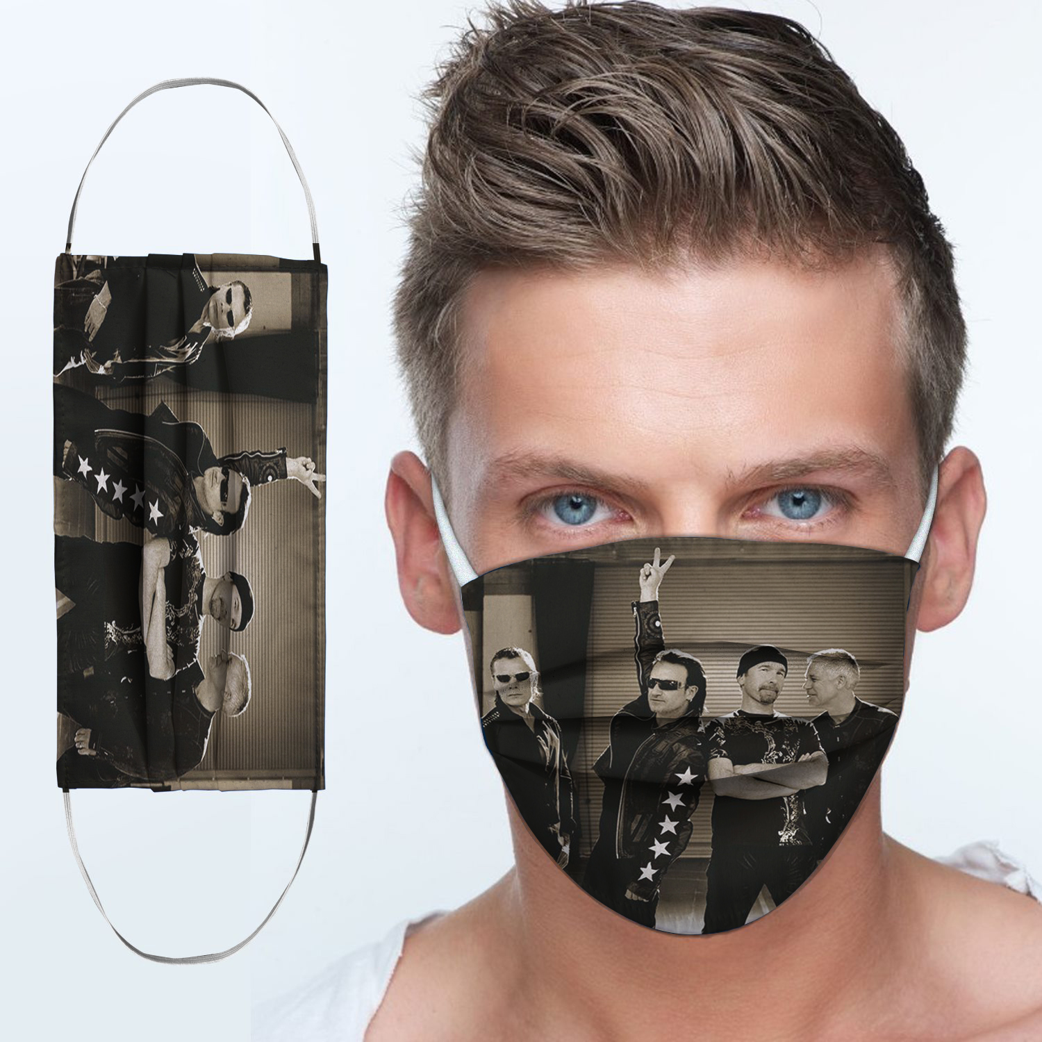 U2 rock band anti-dust cotton face mask 3