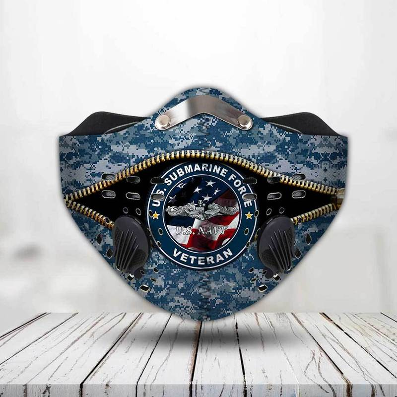 United states navy submarine force veteran filter activated carbon face mask 2