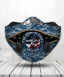 United states navy submarine force veteran filter activated carbon face mask 3