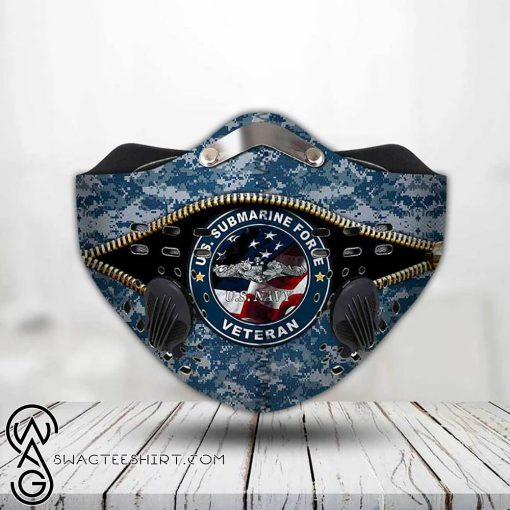 United states navy submarine force veteran filter activated carbon face mask