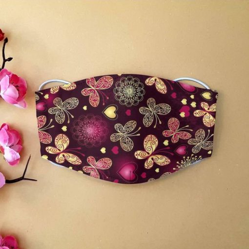 Vintage butterfly love anti-dust cotton face mask 1